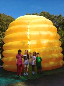 Neighborhood kiddos in Jamaica Plain enjoying the Honey Festival!